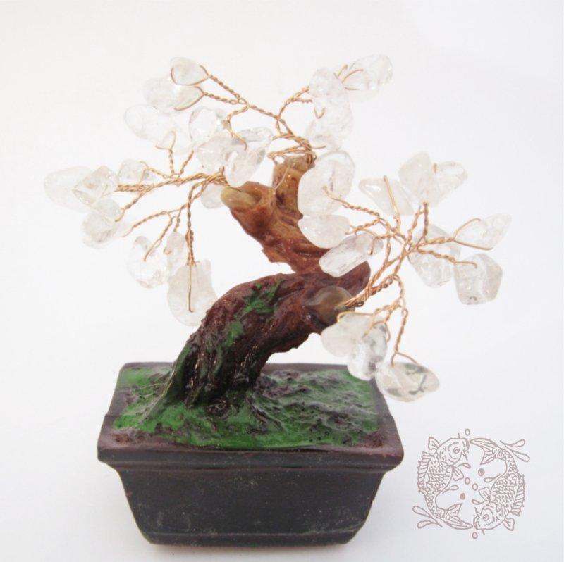 Bergkristal Geluksboompje voor studiegeluk en heldere geest (klein)
