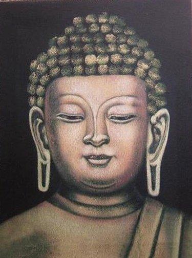 Boeddha Canvas voor Concentratie en Aandacht (middel)