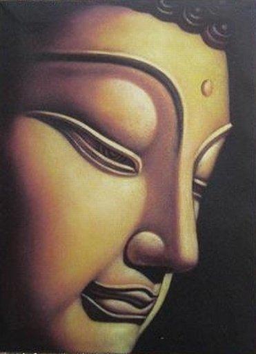 Boeddha Canvas voor Concentratie en Harmonie (middel)