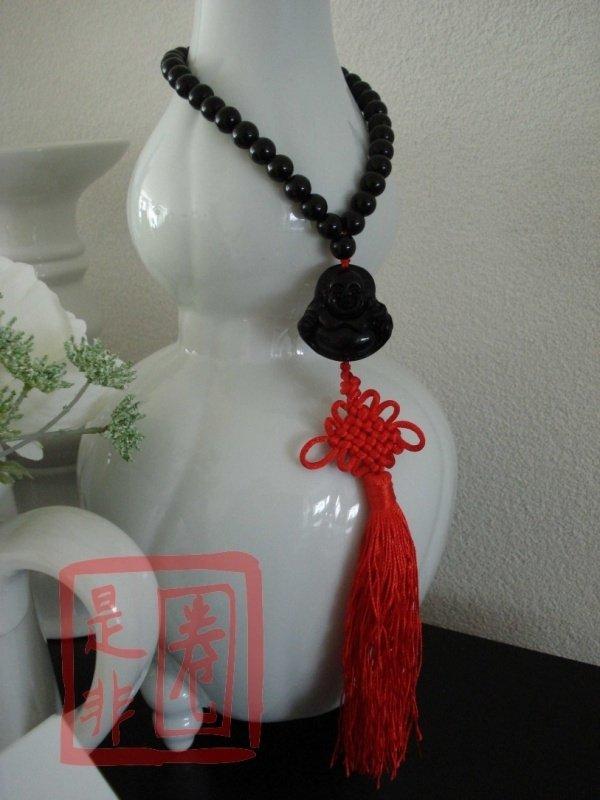 Boeddha Gebedskralen voor Geluk (Zwart)