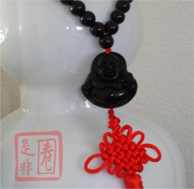 Boeddha Gebedskralen voor Geluk (Zwart)2
