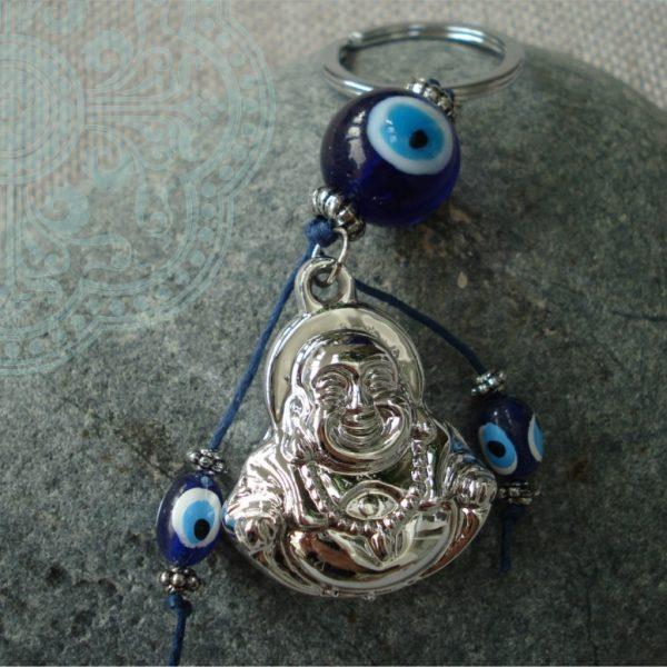 Boeddha met Blauwe Oog Talisman voor Bescherming