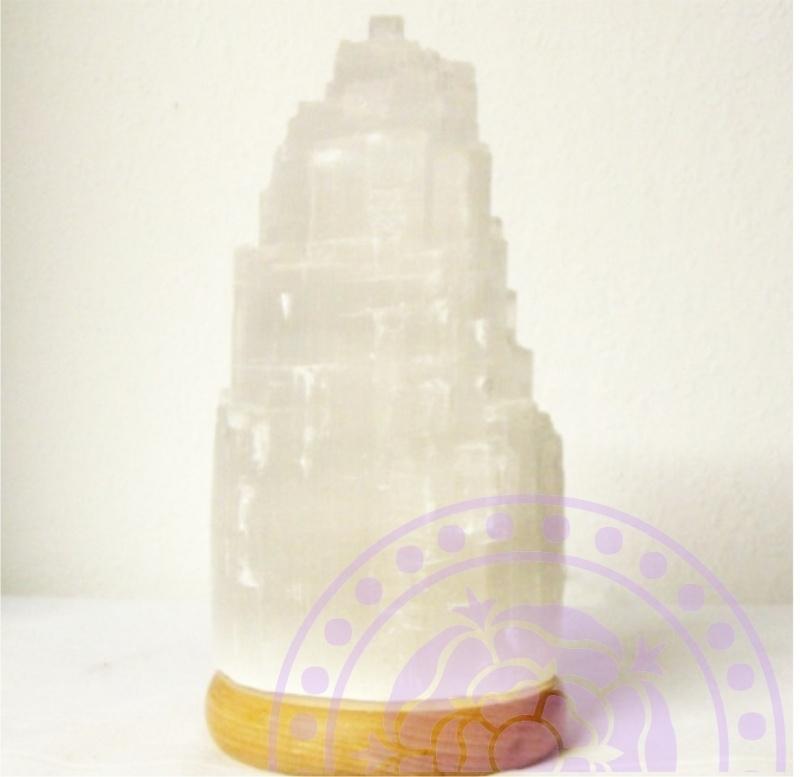 Edelstenen Lamp van Seleniet voor Zuivering en Spiritualiteit