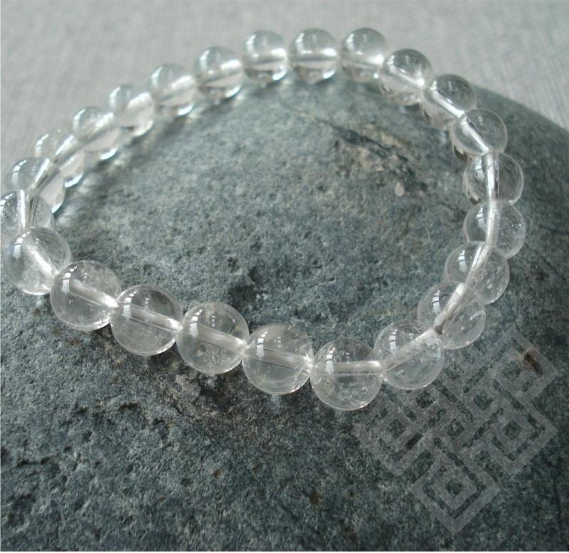 Feng Shui Armband METAAL (Bergkristal, Kua 6,7)