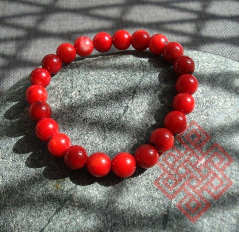 Feng Shui Armband VUUR (Rode Koraal, Kua 9)