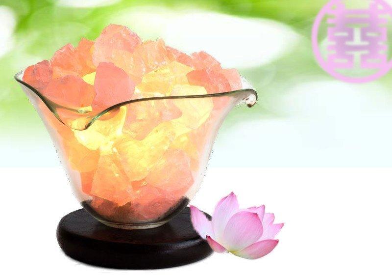 Feng Shui Bloem Lamp (Rozenkwarts) voor Liefde, Harmonie & Ontspanning
