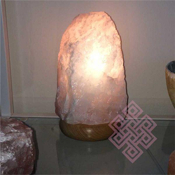 Feng Shui Edelstenen Lamp (Rozenkwarts) voor Liefde, Harmonie & Ontspanning