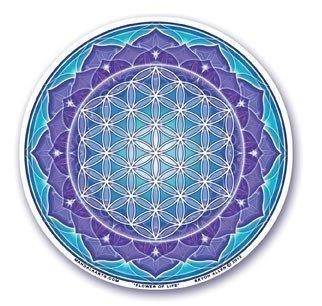 Feng Shui Raamsticker Flower of Life (blauw)