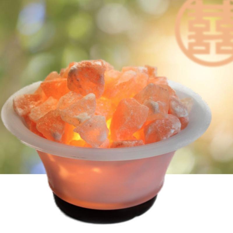 Feng Shui Schaal Lamp (Zout Kristal) voor Energetisch Reinigen