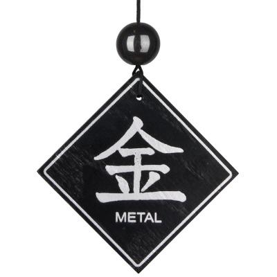Feng Shui Windgong - Metaal element met Hematiet
