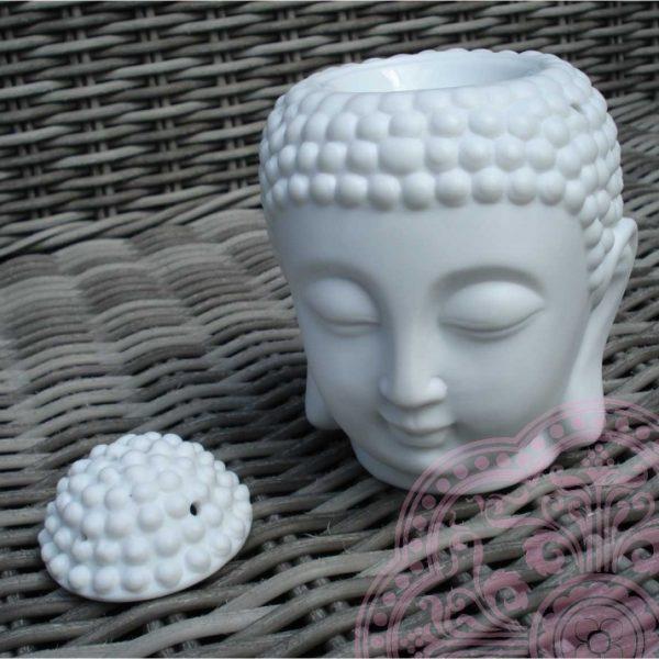Geuroliebrander Thaise Boeddha hoofd (Wit)