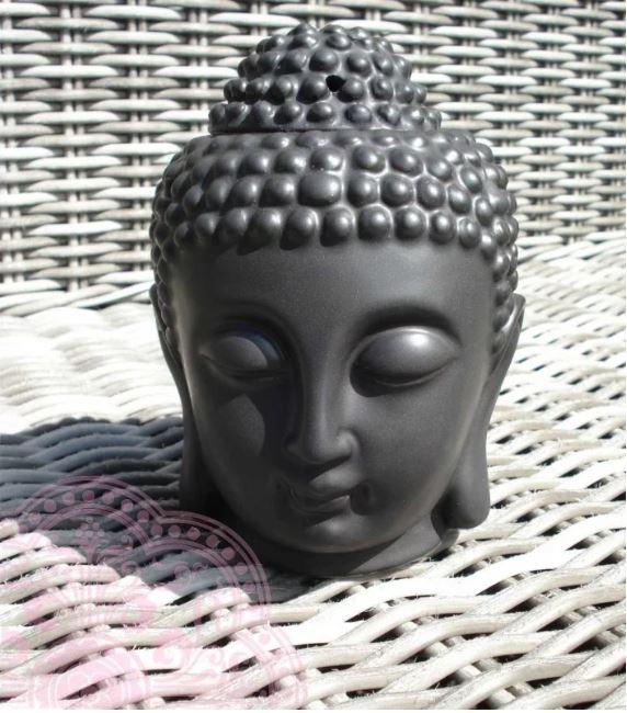 Geuroliebrander Thaise Boeddha hoofd (Zwart)