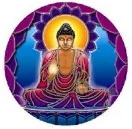 Raamsticker Boeddha Licht