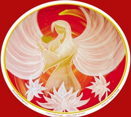 Raamsticker Lotus Angel of Love