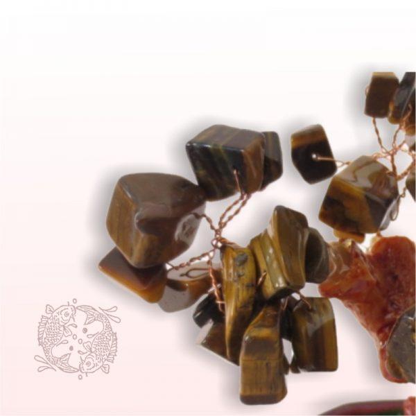 Tijgeroog Geluksboompje voor Kracht en Bescherming (middel)