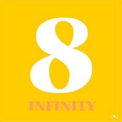 Feng Shui Canvas Infinity kleur geel (40 x 40 cm)