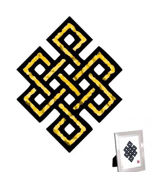 Mystieke Knoop Print voor Voorspoed en Geluk