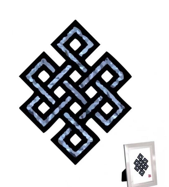 Mystieke knoop Print voor Carrière en Vitaliteit