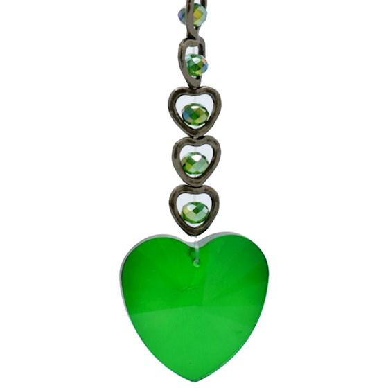Feng Shui Kristal Hanger Groen (15 Hearts)