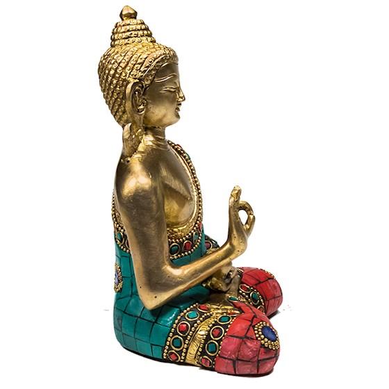 Boeddha Teaching met mozaïek decoratie
