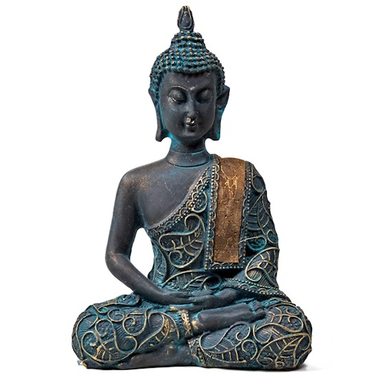 Boeddha in Meditatie antiek look Thailand