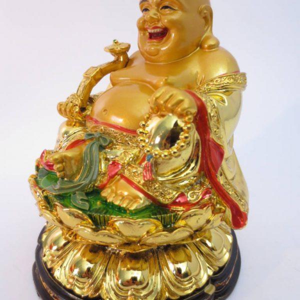 Boeddha Goud Zittend op Lotus met Yuni