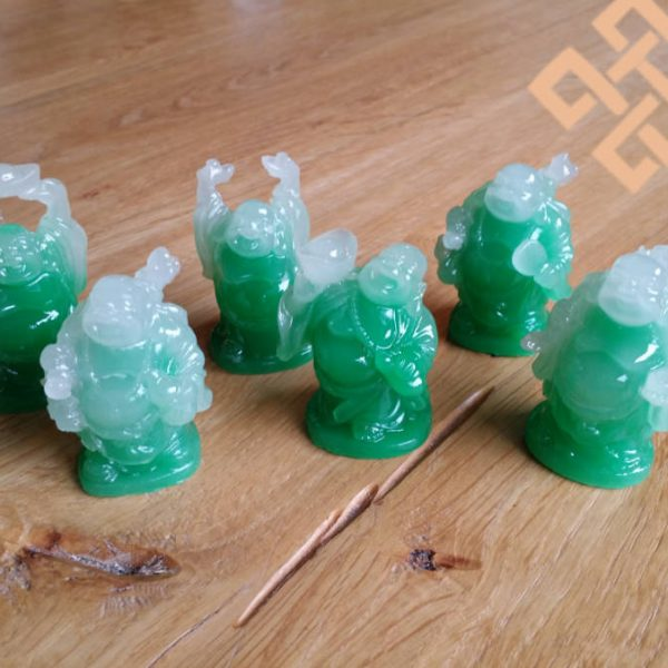 Jade Boeddha Set van 6