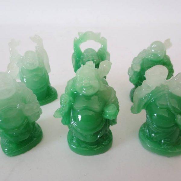 Jade Boeddha Set van 6 Staand