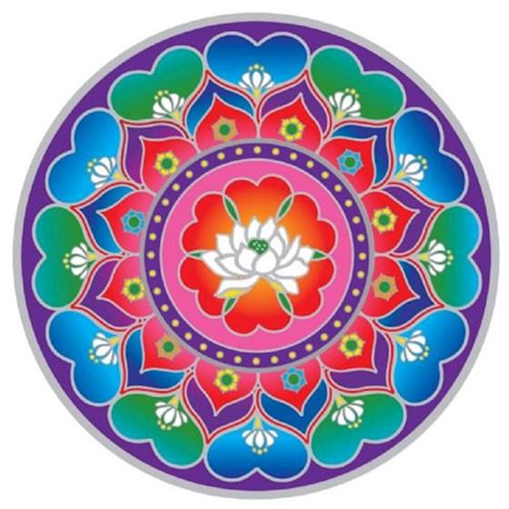 Raamsticker Lotushart Mandala